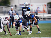Weston Franklin (72), Zach Cieslo (83) - Norland Vikings (Miami) vs IMG Academy Football on October 26, 2019 at IMG Academy in Bradenton, Florida.  (Mike Janes Photography)