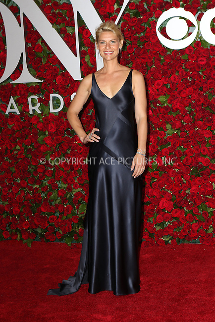 WWW.ACEPIXS.COM<br /> <br /> June 12 2016, New York City<br /> <br /> Claire Danes arriving at the 70th Annual Tony Awards at The Beacon Theatre on June 12, 2016 in New York City.<br /> <br /> By Line: Nancy Rivera/ACE Pictures<br /> <br /> <br /> ACE Pictures, Inc.<br /> tel: 646 769 0430<br /> Email: info@acepixs.com<br /> www.acepixs.com