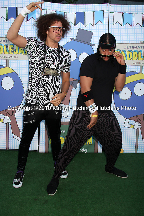 LOS ANGELES - SEP 26:  LMFAO arrives at the Ultimate Slam Paddle Jam 2010 at Music Box Theater on September 26, 2010 in Los Angeles, CA