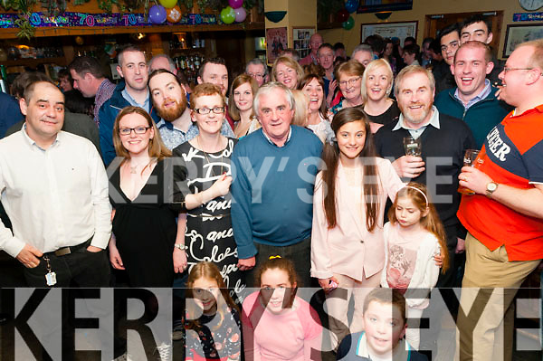 70th Birthday: Patsy Lavery, Ballyline, Ballylongford celebrating his 70th birthday with family & friends at the Horse & Hound Bar, Ballylongford on Saturday night last.
