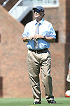 13 September 2015: UNC head coach Anson Dorrance. The University of North Carolina Tar Heels hosted the University of California Los Angeles Bruins at Fetzer Field in Chapel Hill, NC in a 2015 NCAA Division I Women's Soccer game. UNC won the game 3-1.