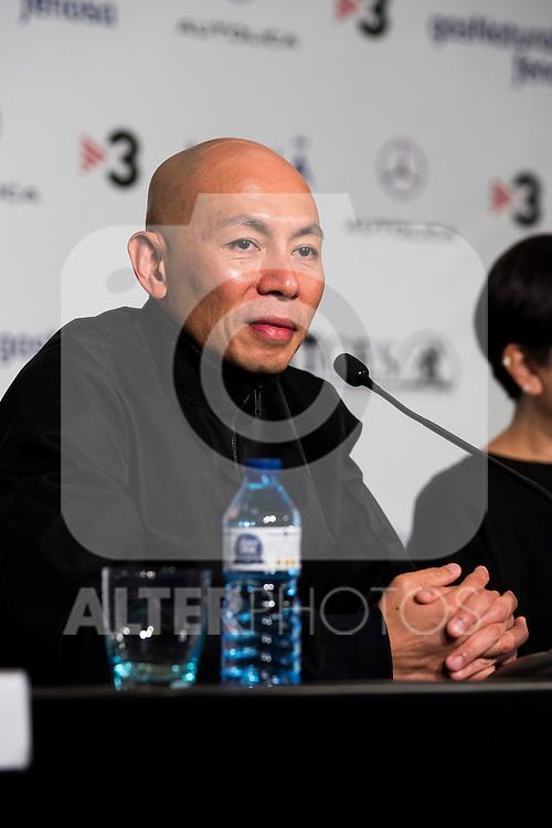 "Hongkonger director Dante Lam during the press conference of the presentation of the film ""Operation Mekong"" at Festival de Cine Fantastico de Sitges in Barcelona. October 10, Spain. 2016. (ALTERPHOTOS/BorjaB.Hojas)"