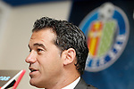 Getafe's new coach Luis Garcia during his official presentation. June 09, 2011. (ALTERPHOTOS/Alvaro Hernandez)