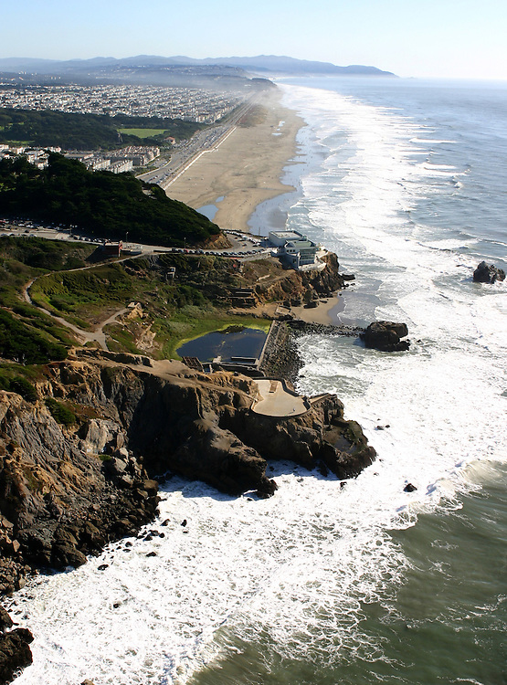 October 16, 2005; San Francisco, CA, USA; Aerial view of the Cliff House restaurant and Sutro Baths in the Golden Gate National Recreation Area along the coast of San Francisco, CA. Photo by: Phillip Carter