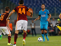 Barcellona's Sergio Busquetes during the Champions League Group E soccer match against AS Roma   at e Olympic Stadium in Rome September 16, 2015
