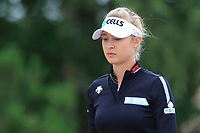 Nelly Korda (USA) on the 3rd during Round 2 of the Ricoh Women's British Open at Royal Lytham &amp; St. Annes on Friday 3rd August 2018.<br /> Picture:  Thos Caffrey / Golffile<br /> <br /> All photo usage must carry mandatory copyright credit (&copy; Golffile | Thos Caffrey)