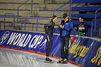 SPEEDSKATING: CALGARY: Olympic Oval, 30-11-2017, ISU World Cup training, Heather Bergsma (USA), Jillert Anema, ©photo Martin de Jong