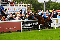 Winner of The M J Church British EBF Novice Stakes (Plus 10) (Div 1),Mover Over ridden by Sean Levey and trained by Richard Hannon  during Afternoon Racing at Salisbury Racecourse on 7th August 2017