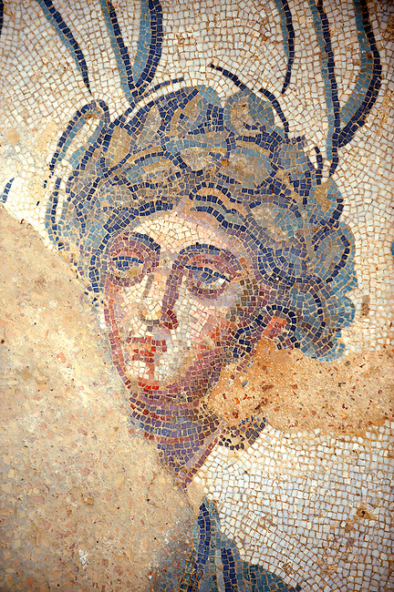 Roman mosaics at the Villa Romana del Casale which containis the richest, largest and most complex collection of Roman mosaics in the world. Constructed  in the first quarter of the 4th century AD. Sicily, Italy. A UNESCO World Heritage Site.