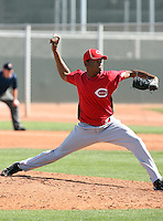 Enerio Del Rosario, Cincinnati Reds 2010 minor league spring training..Photo by:  Bill Mitchell/Four Seam Images.