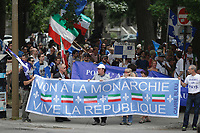 Montreal, CANADA - 2014  File Photo - Quebec Nationalist celebrate DOLLARD Day on July 1st 2014, same day as Canada National Holliday.<br /> <br /> Agence Quebec Presse - Pierre Roussel