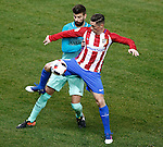 Atletico de Madrid's Fernando Torres (r) and FC Barcelona's Gerard Pique during Spanish Kings Cup semifinal 1st leg match. February 01,2017. (ALTERPHOTOS/Acero)