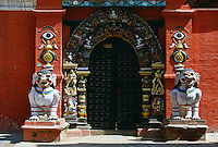 Temple doorway, Bhaktapur, Nepal