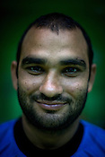 Jasveer Singh, one of the member of the Indian Kabbadi team poses for a portrait at a month long camp in Sport Authority of India Sports Complex in Bisankhedi, outskirts of Bhopal, Madhya Pradesh, India.