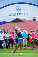 Alison Lee (USA) watches her tee shot on 10 during Friday's round 2 of the 2017 KPMG Women's PGA Championship, at Olympia Fields Country Club, Olympia Fields, Illinois. 6/30/2017.<br /> Picture: Golffile | Ken Murray<br /> <br /> <br /> All photo usage must carry mandatory copyright credit (&copy; Golffile | Ken Murray)