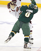 Chris Collins, Dean Strong - The Boston College Eagles completed a shutout sweep of the University of Vermont Catamounts on Saturday, January 21, 2006 by defeating Vermont 3-0 at Conte Forum in Chestnut Hill, MA.