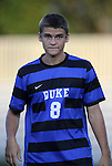 14 September 2012: Duke's Chase Keesling. The Duke University Blue Devils defeated the Clemson University Tigers 2-0 at Koskinen Stadium in Durham, North Carolina in a 2012 NCAA Division I Men's Soccer game.