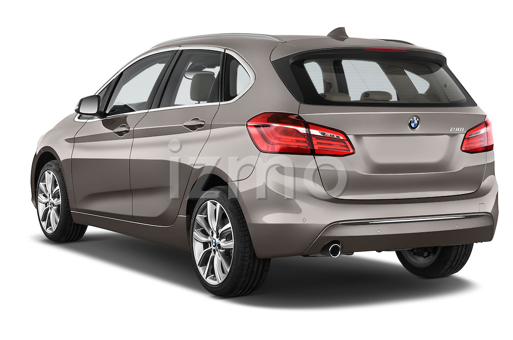 Car pictures of rear three quarter view of a 2015 BMW 2 Series 5 Door Mini MPV 2WD Angular Rear