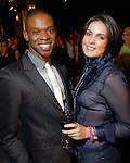 Chris Mitchell and Sagan Sabatino at the Fall Fashion show at the Galleria Thursday  Oct. 16,2008. (Dave Rossman/For the Chronicle)