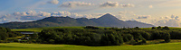 A view of Croagh Patrick during the Final of the AIG Senior Cup in the AIG Cups & Shields Connacht Finals 2019 in Westport Golf Club, Westport, Co. Mayo on Sunday 11th August 2019.<br /> <br /> Picture:  Thos Caffrey / www.golffile.ie<br /> <br /> All photos usage must carry mandatory copyright credit (© Golffile | Thos Caffrey)