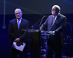 Todd Haimes and Tom Tuft  during the Roundabout Theatre Company's 2019 Gala honoring John Lithgow at the Ziegfeld Ballroom on February 25, 2019 in New York City.