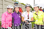 Mary Casey Portmagee, Emer O'Sullivan Valentia Island, Grainne Galvin Castleisland and Ann Marie Sheehan Valentia Island who participated at the Stephanie O'Sullivan Charity Cycle in Milltown on Sunday morning