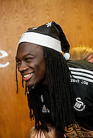 Tuesday  15 December 2015<br /> Pictured: Bafetimbi Gomis<br /> Re: Kids SCFC Christmas Party at the Liberty Stadium, Swansea
