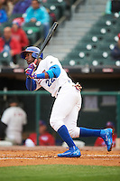Buffalo Bisons right fielder Junior Lake (22) at bat during a game against the Durham Bulls on June 13, 2016 at Coca-Cola Field in Buffalo, New York.  Durham defeated Buffalo 5-0.  (Mike Janes/Four Seam Images)
