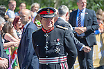 The Lord Lieutenant of West Glamorgan Byron Lewis during Prince Charles,  Prince of Wales and Camilla, Dutchess of Cornwall visit Victoria Park in Swansea today to help celebrate the 50th anniversary of Swanseas achieving City status.