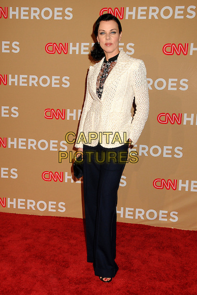 DEBI MAZAR .CNN Heroes: An All-Star Tribute 2010 held at the Shrine Auditorium, Los Angeles, California, USA, .20th November 2010..full length jacket blue wide leg trousers white cream black sheer see thru through .CAP/ADM/BP.©Byron Purvis/AdMedia/Capital Pictures.