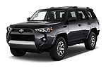 2017 Toyota 4Runner Off-Road 5 Door SUV angular front stock photos of front three quarter view
