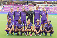 Orlando, FL - Saturday August 05, 2017: Orlando Pride team shot during a regular season National Women's Soccer League (NWSL) match between the Orlando Pride and the Chicago Red Stars at Orlando City Stadium.
