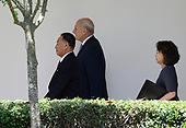 White House Chief of Staff John Kelly walks along the Colonnade toward the Oval Office with Kim Yong Chol, former North Korean military intelligence chief and one of leader Kim Jong Un's closest aides, as he arrives at the White House in Washington on Friday, June 1, 2018. <br /> Credit: Olivier Douliery / Pool via CNP