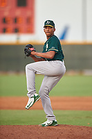 AZL Athletics Green relief pitcher Malik Jones (41) during an Arizona League game against the AZL Reds on July 21, 2019 at the Cincinnati Reds Spring Training Complex in Goodyear, Arizona. The AZL Reds defeated the AZL Athletics Green 8-6. (Zachary Lucy/Four Seam Images)