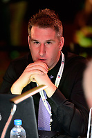 Philadelphia, PA - Thursday January 18, 2018: Lloyd Yaxley during the 2018 NWSL College Draft at the Pennsylvania Convention Center.