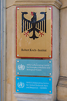 Das Robert Koch-Institut, eine selbststaendige deutsche Bundesoberbehoerde fuer Infektionskrankheiten.<br /> 16.3.2020, Berlin<br /> Copyright: Christian-Ditsch.de<br /> [NUR FUER REDAKTIONELLE ZWECKE! Werbung nur auf Anfrage beim Fotografen. Inhaltsveraendernde Manipulation des Fotos nur nach ausdruecklicher Genehmigung des Fotografen. Vereinbarungen ueber Abtretung von Persoenlichkeitsrechten/Model Release der abgebildeten Person/Personen liegen nicht vor. NO MODEL RELEASE! Don't publish without copyright Christian-Ditsch.de, Veroeffentlichung nur mit Fotografennennung, sowie gegen Honorar, MwSt. und Beleg. Konto: I N G - D i B a, IBAN DE58500105175400192269, BIC INGDDEFFXXX, Kontakt: post@christian-ditsch.de<br /> Bei der Bearbeitung der Dateiinformationen darf die Urheberkennzeichnung in den EXIF- und  IPTC-Daten nicht entfernt werden, diese sind in digitalen Medien nach §95c UrhG rechtlich geschuetzt. Der Urhebervermerk wird gemaess §13 UrhG verlangt.]