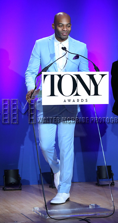 Victor Dixon during The 73rd Annual Tony Awards Nominations Announcement on April 30, 2019 in New York City.