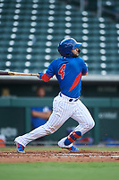 AZL Cubs 2 Richard Nunez (4) at bat during an Arizona League game against the AZL Reds on July 23, 2019 at Sloan Park in Mesa, Arizona. AZL Cubs 2 defeated the AZL Reds 5-3. (Zachary Lucy/Four Seam Images)