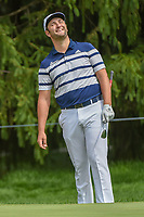 Jon Rahm (ESP) reacts to chipping in from off the green on 15    during 1st round of the World Golf Championships - Bridgestone Invitational, at the Firestone Country Club, Akron, Ohio. 8/2/2018.<br /> Picture: Golffile | Ken Murray<br /> <br /> <br /> All photo usage must carry mandatory copyright credit (&copy; Golffile | Ken Murray)