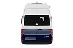 Straight rear view of 2020 Volkswagen Grand-California 600 4 Door Refrigerated Van Rear View  stock images