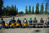 Spectators watch the final between Wellington and Auckland during the Evergreens softball tournament at Pioneer Park Masterton, New Zealand on Saturday, 12 March 2016. Photo: Dave Lintott / lintottphoto.co.nz