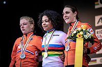 podium:<br /> <br /> 1st place: Ceylin Del Carmen Alverado (NED)<br /> 2nd place: Annemarie Worst (NED)<br /> 3th place: Lucinda Brand (NED)<br /> <br /> Women's Elite Race<br /> UCI 2020 Cyclocross World Championships<br /> Dübendorf / Switzerland<br /> <br /> ©kramon