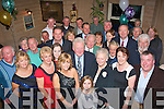 John Blennerhassett(centre)from Ballinorig,Tralee had a very enjoyable night in Stoker's Lodge,Clounalour,Tralee where all his family,friends and neighbours gathered for his 80th birthday.
