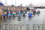 In preparation for the Valentia Island King Scallop Festival 9th-10th July swimmers took to the water to capture some scallop's for the event, pictured here at Knightstown Harbour were front l-r; Dillon Kidd, Donncha Lyne, Jack Wheelan, Lydia O'Sullivan, Mary Beth O'Donoghue, Cliodhna Guiney, back l-r; Deirdre Lyne, Bridie Egan, Mary Lyne, Miriam Lyne, Vincent Kidd, Jovalyn Ramirez, Vincent Jr Kidd, Concubhar Lyne, Daithi Merrick, Fiona?n Murphy(2010 King Scallop) & Mike Moriarty..Ref Sinead.