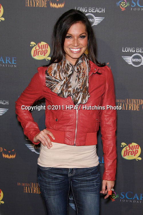 LOS ANGELES - OCT 9:  Melissa Rycroft arriving at the 3rd annual LA Haunted Hayride at the Griffith Park on October 9, 2011 in Los Angeles, CA