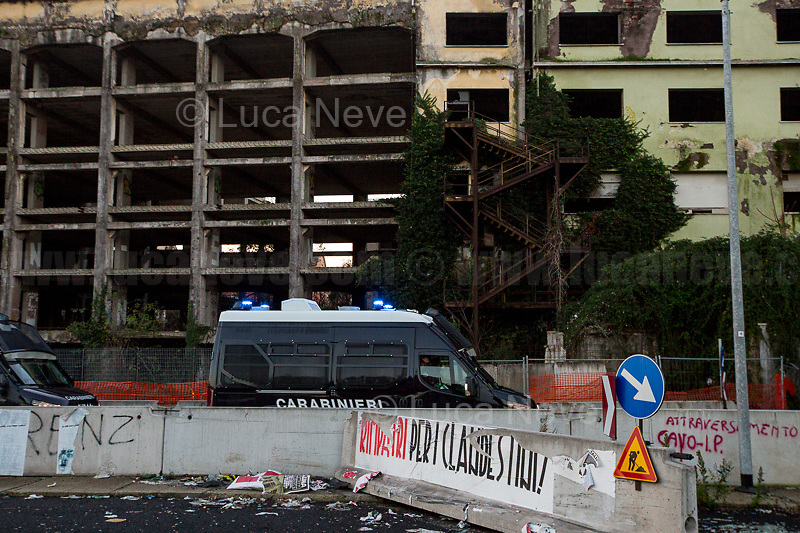(On the R) Posters by the neo-fascist group Casapound.<br />