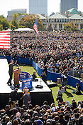 Democratic Presidential addresses a crowd of over 20,000 people on the Halifax Mall in Raleigh, Oct. 29, 2008.