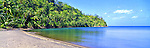 Caribbean Panorama - Beach in Dominica Image taken on large format panoramic 6cm x 17cm transparency. Available for licencing and printing. email us at contact@widescenes.com for pricing. <br />