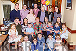 Josephine Harrington Caherciveen celebrated her 70th birthday with her family and friends in the Gleneagle Hotel Killarneyon Saturday night