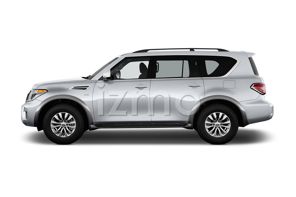 Car driver side profile view of a 2017 Nissan Armada SV 5 Door SUV